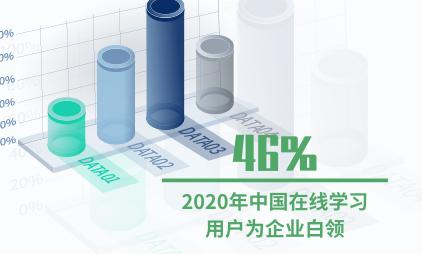 在线学习行业数据分析:2020年中国46%在线学习用户为企业白领