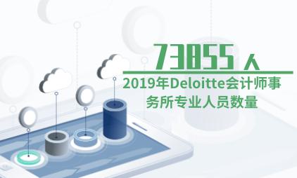会计行业数据分析:2019年Deloitte会计师事务所专业人员数量达73855人