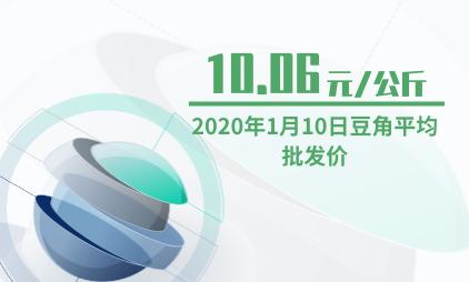 农产品行业数据分析:2020年1月10日豆角平均批发价为10.06元/公斤