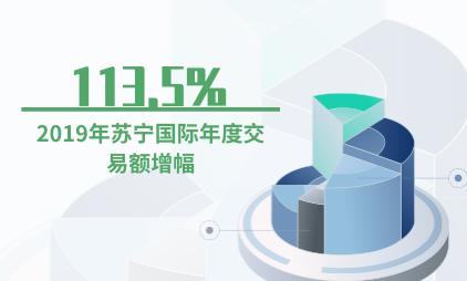 跨境电商行业数据分析:2019年苏宁国际年度交易额增幅为113.5%