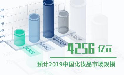 化妆品行业数据分析:2019年中国化妆品市场规模将达4256亿元
