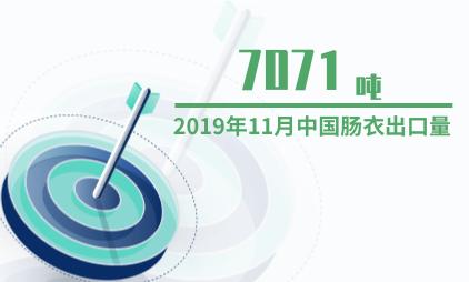 农产品行业数据分析:2019年11月中国肠衣出口量为7071吨