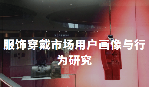 2019中国服饰穿戴市场用户特点、画像与行为研究
