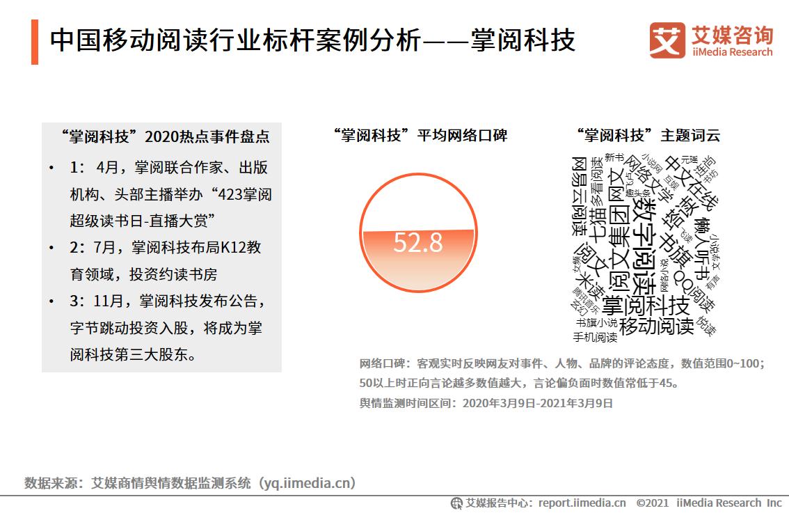 中国移动阅读行业标杆案例分析——掌阅科技