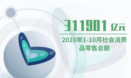 零售行业数据分析:2020年1-10月社会消费品零售总额为311901亿元