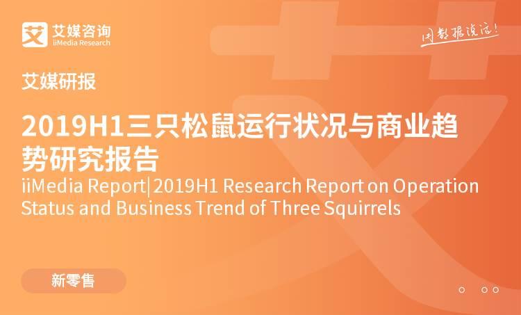 艾媒研報 |2019H1三只松鼠運行狀況與商業趨勢研究報告