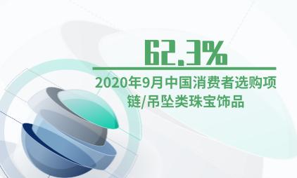 饰品行业数据分析:2020年9月62.3%中国消费者选购项链/吊坠类珠宝饰品