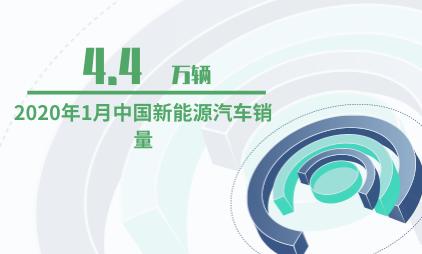汽车行业数据分析:2020年1月中国新能源汽车销量为4.4万辆