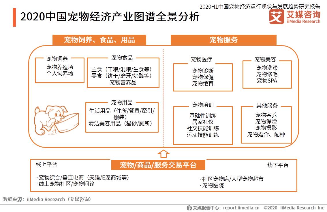 2020中国宠物经济产业图谱全景分析