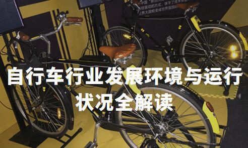 2019-2020年中国自行车行业发展环境与运行状况全解读