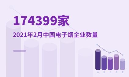电子烟行业数据分析:截至2021年2月中国电子烟企业数量为174399家