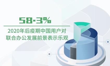 联合办公行业数据分析:2020年后疫期中国58.3%用户对联合办公发展前景表示乐观