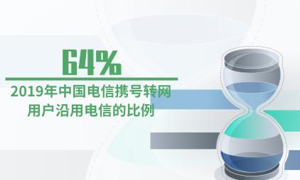 电信行业数据分析:2019年中国电信携号转网64%用户沿用电信
