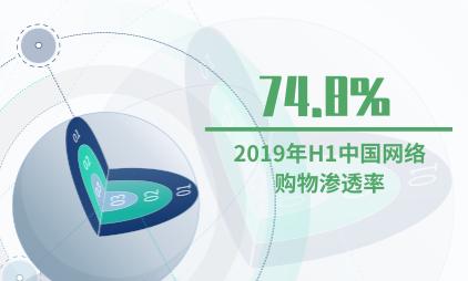 网购行业数据分析:2019年H1中国网络购物渗透率达74.8%