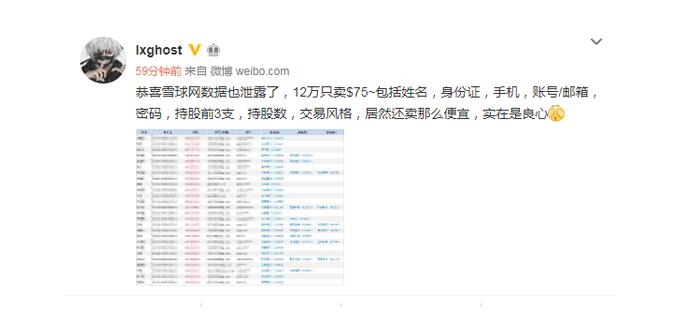 信息泄露事件再发?雪球12万人的数据疑被泄露,官方回应:不实信息