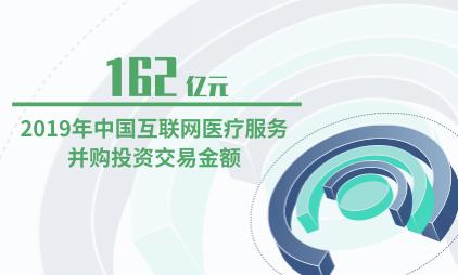 医疗行业数据分析:2019年中国互联网医疗服务并购投资交易金额为162亿元