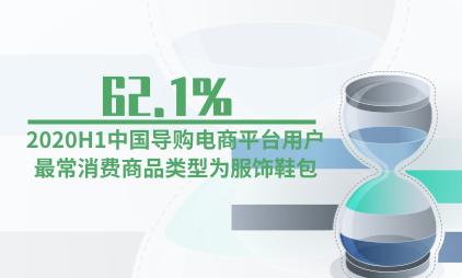 电商行业数据分析:2020H1中国62.1%导购电商平台用户最常消费商品类型为服饰鞋包