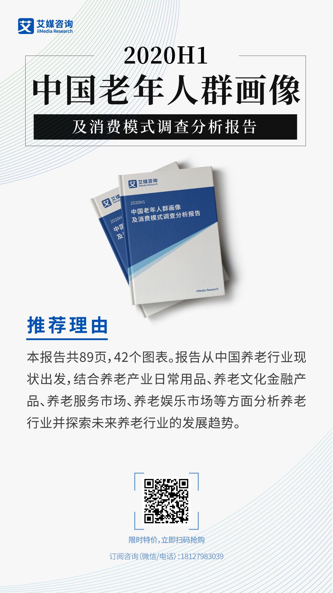 2020H1中国老年人群画像及消费模式调查分析报告
