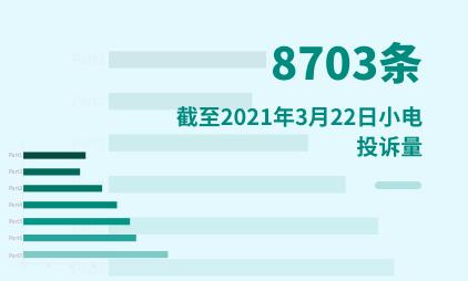 共享充电宝行业数据分析:截至2021年3月22日小电投诉量高达8703条