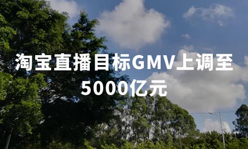 淘宝直播目标GMV上调至5000亿元,2020年中国直播电商行业趋势分析