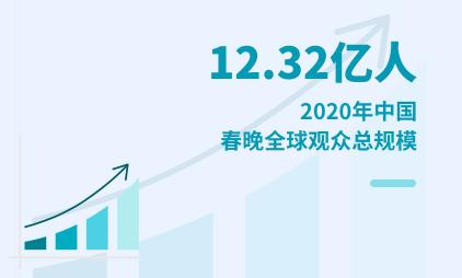 春晚数据分析:2020年中国春晚全球观众总规模为12.32亿人