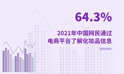 化妆品行业数据分析:2021年中国64.3%网民通过电商平台了解化妆品信息