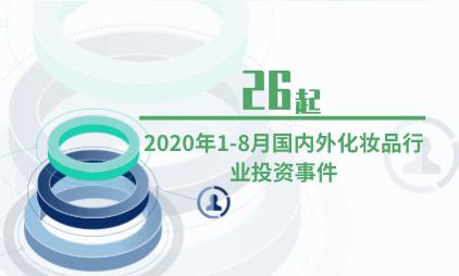 化妆品行业数据分析:2020年1-8月国内外化妆品行业投资事件为26起