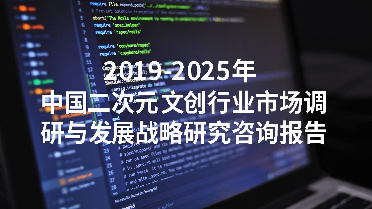 2019-2025年中国二次元文创行业市场调研与发展战略研究咨询报告
