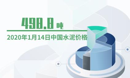 水泥行业数据分析:2020年1月14日中国水泥价格为498.8元/吨