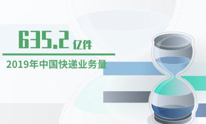 快递行业数据分析:2019年中国快递业务量为635.2亿件