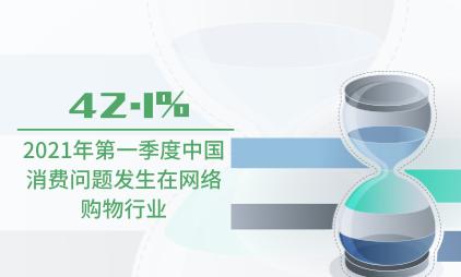 消费行业数据分析:2021年第一季度中国42.1%消费问题发生在网络购物行业