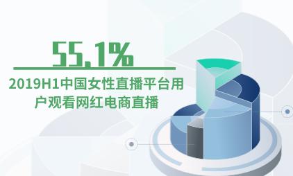 直播行业数据分析:2019H1中国55.1%女性直播平台用户观看网红电商直播
