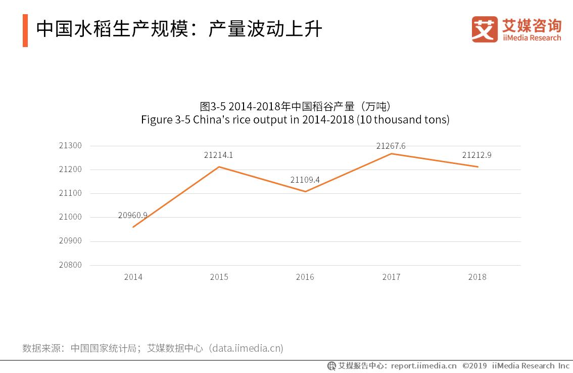 中国水稻生产规模-艾媒咨询