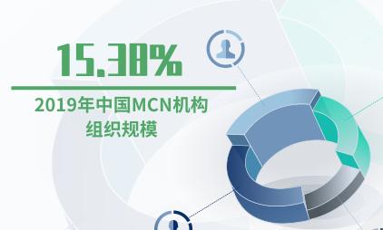 MCN行业数据分析: 2019年中国MCN机构组织规模为15.38%