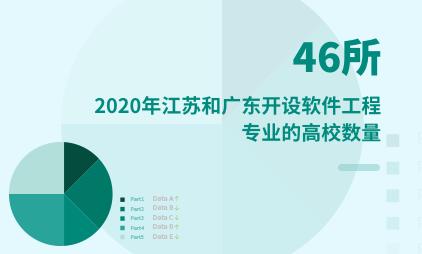 教育市场数据分析:2020年江苏和广东各有46所高校开设软件工程专业