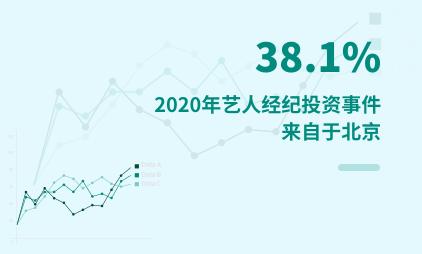 艺人经纪行业数据分析:2020年38.1%艺人经纪投资事件来自于北京