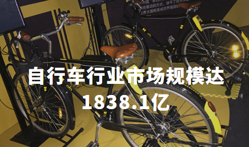 自行车大发极速快三:市场规模达1838.1亿,本土品牌利润率低,中高端市场转型空间大