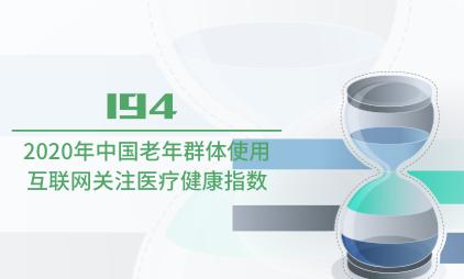 互联网行业数据分析:2020年中国老年群体使用互联网关注医疗健康指数为194