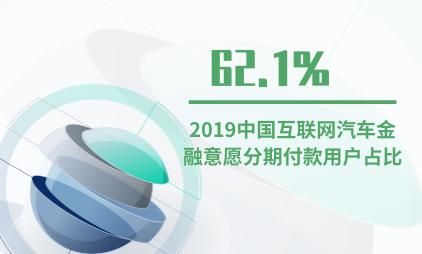 汽车金融行业数据分析:2019中国互联网汽车金融用户62.1%意愿使用分期付款