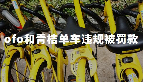 北京交通委:ofo和青桔单车违规被罚款,约谈后拒不改正