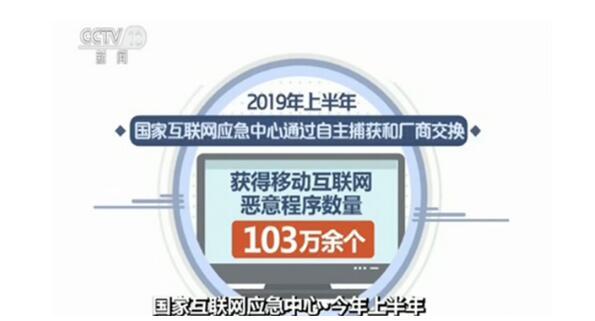 国家互联网应急中心:上半年捕获103万个恶互联网意程序