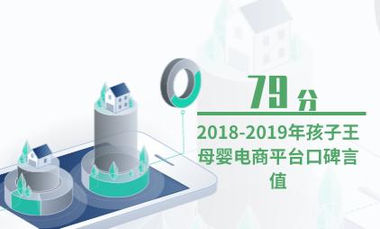 母婴电商行业数据分析:2018-2019年孩子王母婴电商平台口碑言值为79分