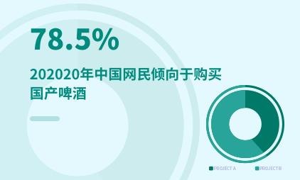 酒水行业数据分析:2020年中国78.5%网民倾向于购买国产啤酒