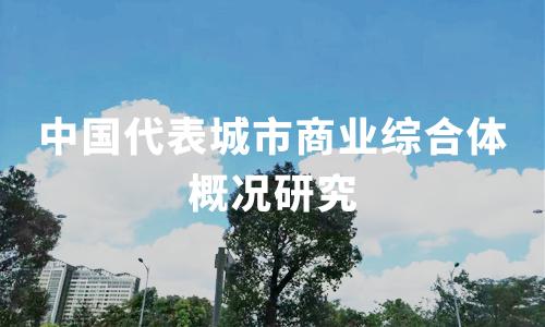 2019中国代表城市商业综合体概况研究——北京、上海、成都、广州