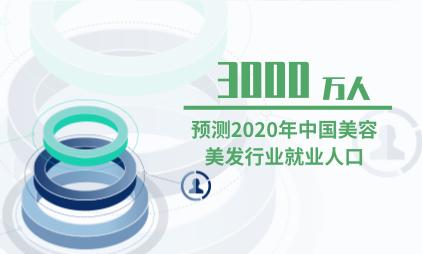 美容美发行业数据分析:预测2020年中国美容美发行业就业人口为3000万人