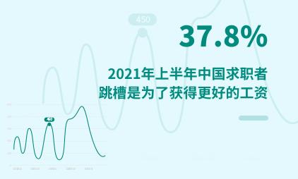 就业市场数据分析:2021年上半年中国37.8%求职者跳槽是为了获得更好的工资