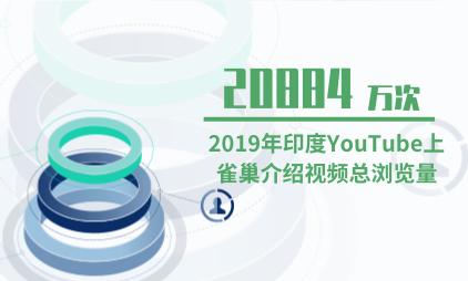茶品行业数据分析:2019年印度YouTube上雀巢介绍视频总浏览量为20884万次