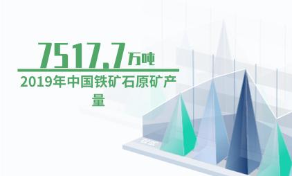 化工行业数据分析:2019年中国铁矿石原矿产量为7517.7万吨
