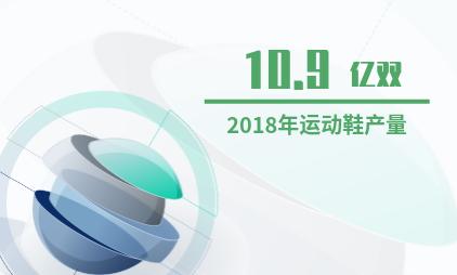 中国运动鞋产业数据分析:2018年中国运动鞋产量达10.9亿双