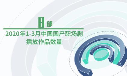 电视剧行业数据分析:2020年1-3月中国国产职场剧播放作品数量为8部